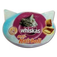 Whiskas Anti-Hairballs добавка для выведения шерсти из пищевода, 60 гр